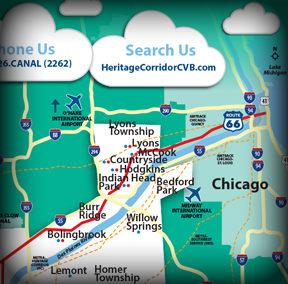 Heritage Corridor Convention & Visitor Bureau Map