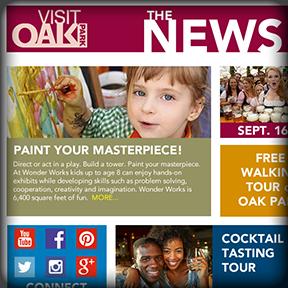 Visit Oak Park Email Campaign